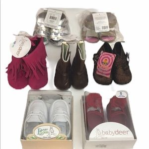 NEW Baby Shoes Lot of 7 Pairs 0-6 Months